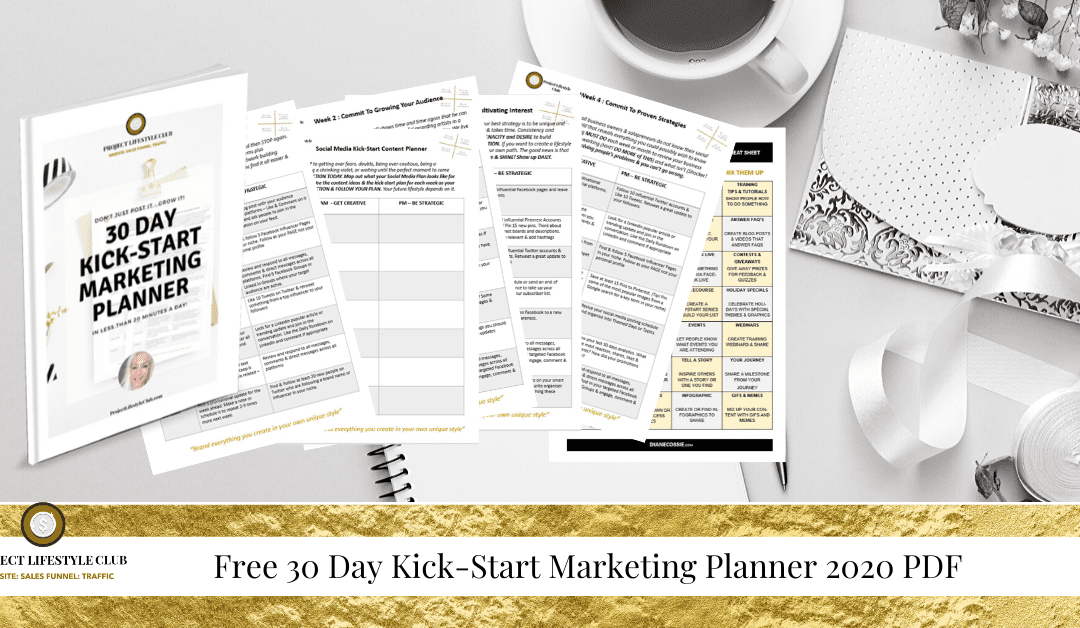 Social Media Kick-Start Marketing Planner 2020 PDF