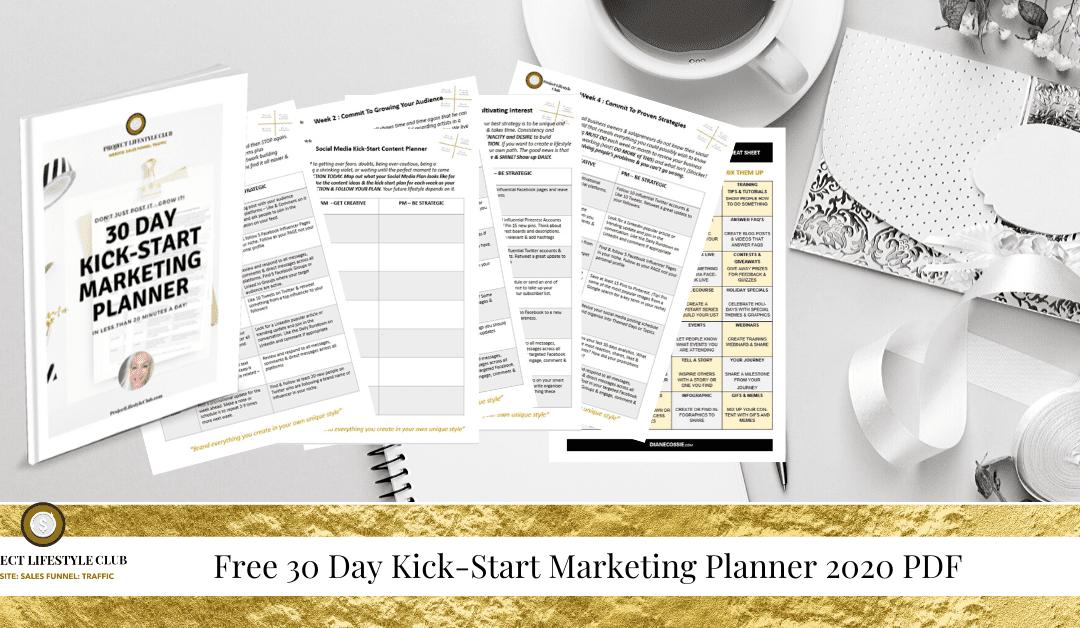 Social Media Kick-Start Marketing Planner 2020 PDF