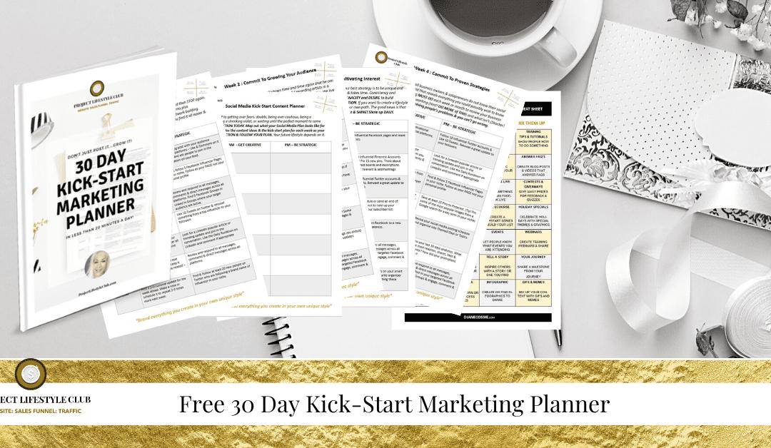 Social Media Kick-Start Marketing Planner