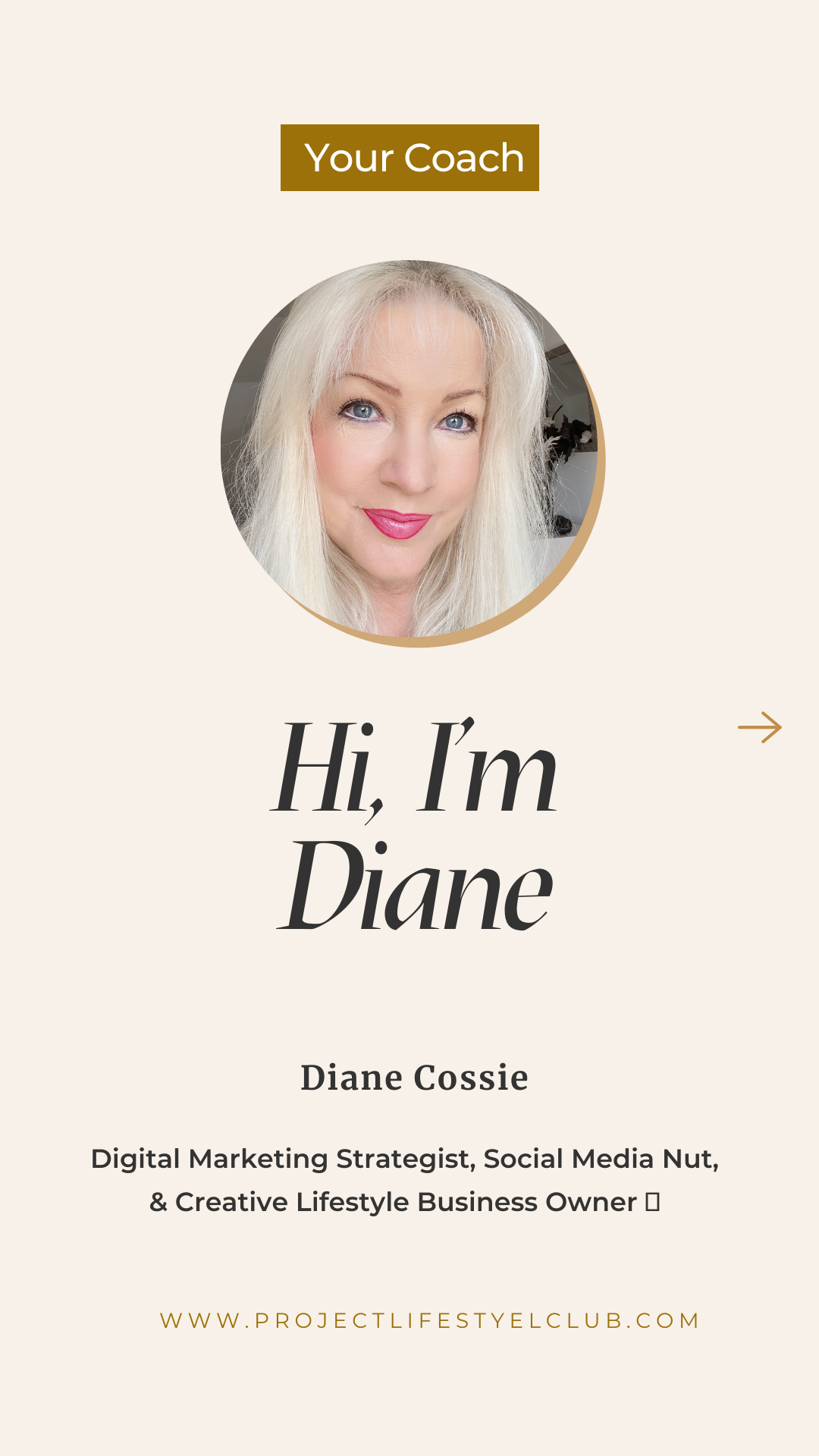 """""""Diane Cossie Project Lifestyle Club"""""""